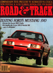 Flying SVO -- Road & Track Cover
